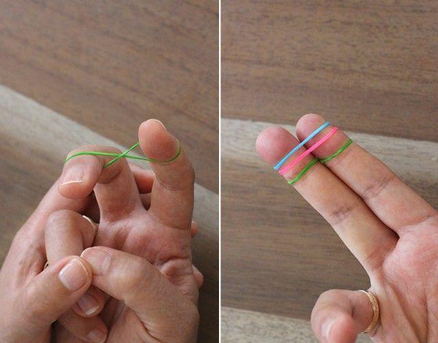 DIY Finger Fishtail Loom Bracelet