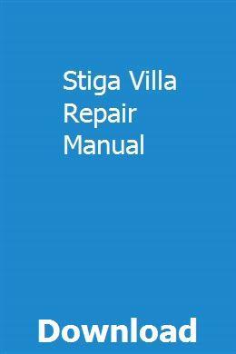 Array - stiga villa repair manual   viocarniewi   repair manuals      rh   pinterest com