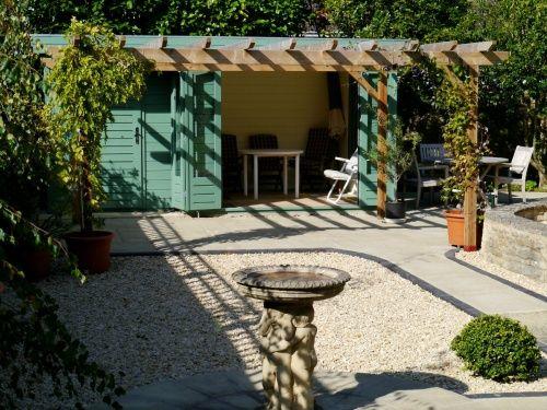 Custom Log Cabin with folding doors & integral storeroom