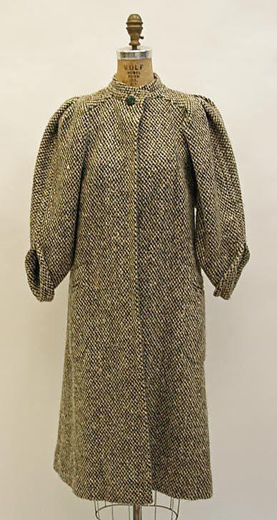 Coat Madame Grès (Alix Barton)  (French, Paris 1903–1993 Var region) Date: 1960s Culture: French Medium: wool