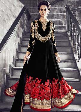 Black Georgette Anarkali Suit                                                                                                                                                     More