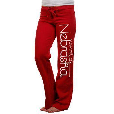Nebraska Cornhuskers Ladies Scarlet Rugby Fleece Sweatpants Price: $31.95