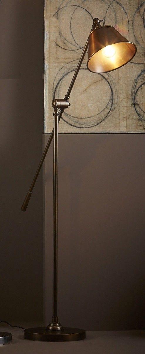 Winslow Floor Lamp Antique Brass - FLOOR LAMPS  - Emac & Lawton