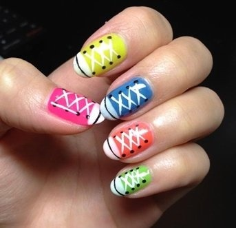 converse nails nail art ideas pinterest first day of