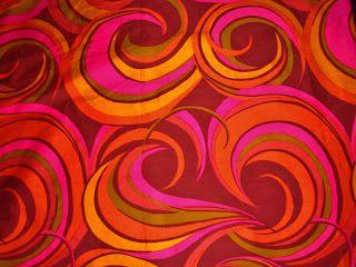 Marjatta Metsovaara 1960s print cotton