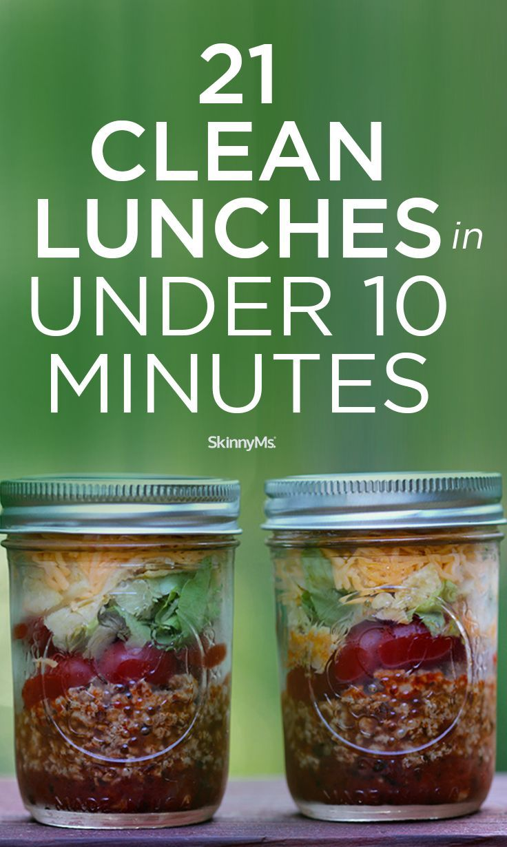 These 21 clean lunches that can be prepared in under 10 minutes are the perfect option for packing lunch for school or work. #cleaneatinglunches #lunchideas #healthylunches