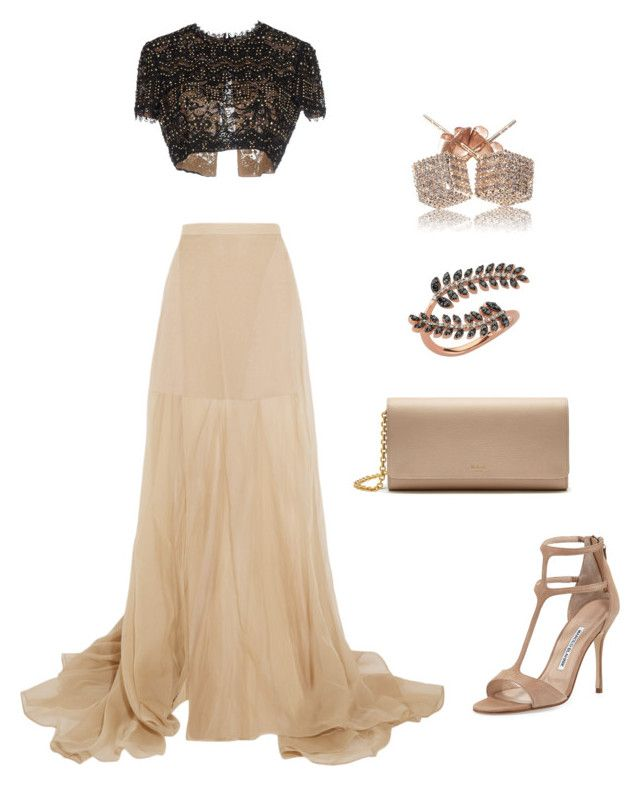 """Untitled #6"" by lhh-ph on Polyvore featuring Vionnet, Emilio Pucci, Mulberry, Manolo Blahnik, Loushelou and Bee Goddess"