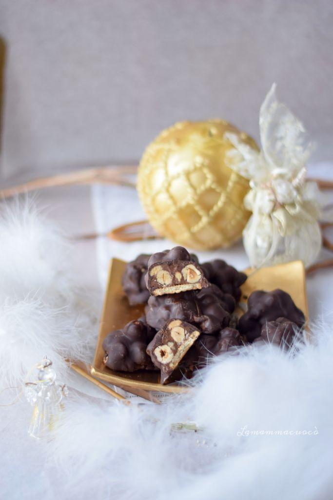 baciotti nocciole nutella e cioccolato
