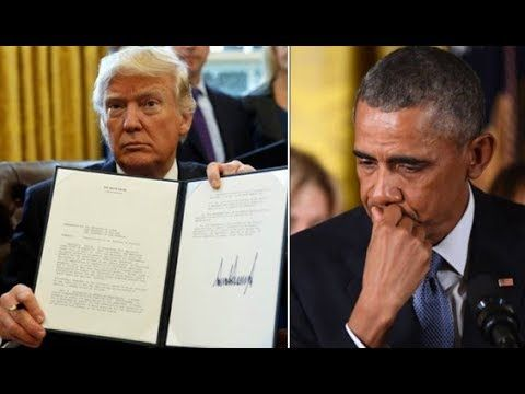 Trump Just Drops New Executive Order — Leaves Obama, Democrats In Complete Devastation - YouTube