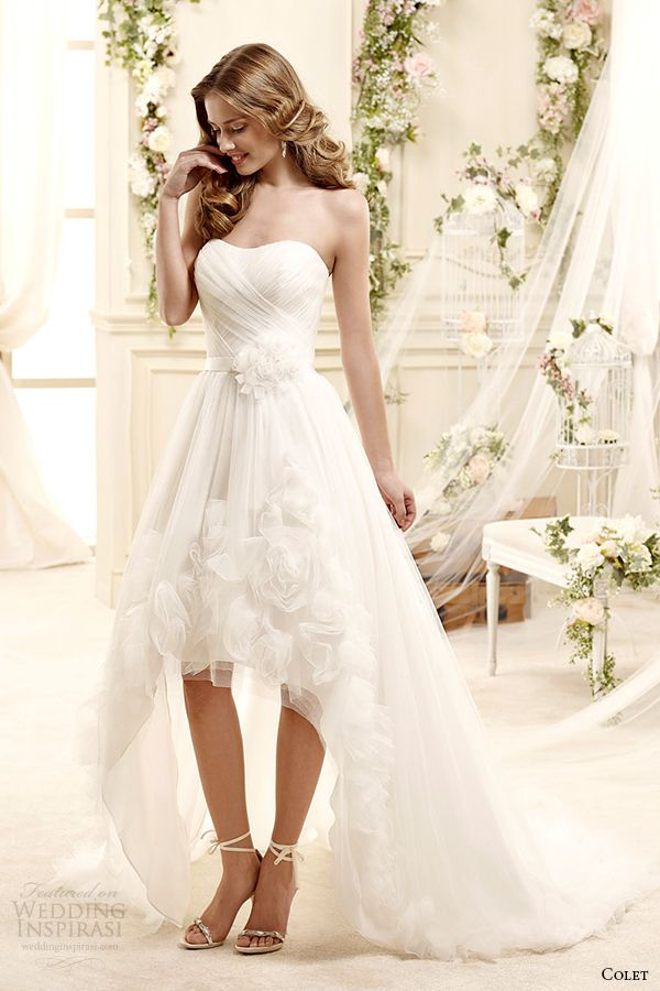 colet bridal 2015 style 64 coab15328iv strapless high low mullet wedding dress