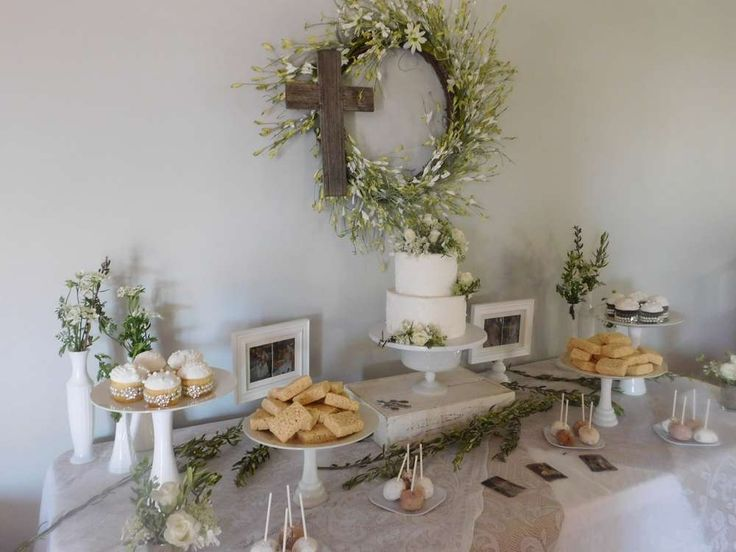 White Lace First Communion Party Ideas | Photo 2 of 8