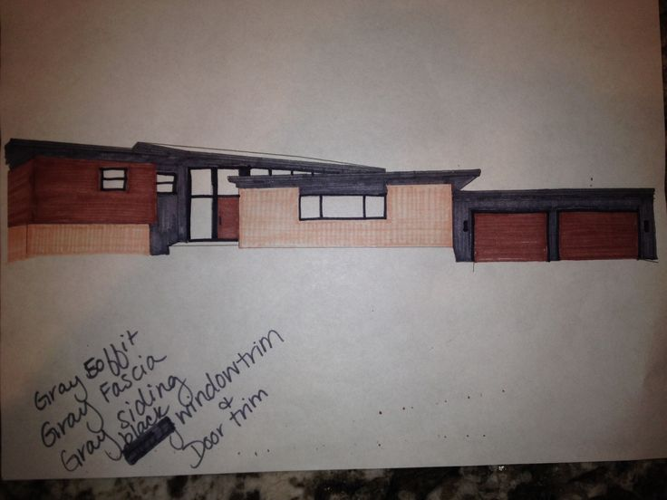 Exterior Selections For Mid Century Modern With Sherwin Williams Dovetail Pai