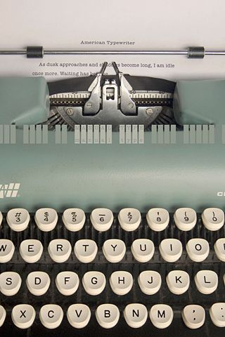 . . . . Typewriter . . . . Waaaaay old school!