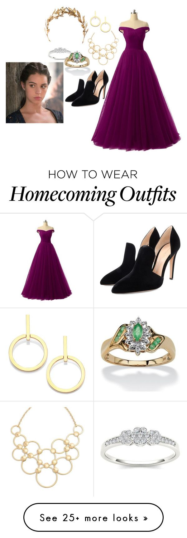 """""""Queen Mary of Scots ~ Reign"""" by panic-forever on Polyvore featuring Gianvito Rossi, Palm Beach Jewelry, Vera Bradley and Vita Fede"""