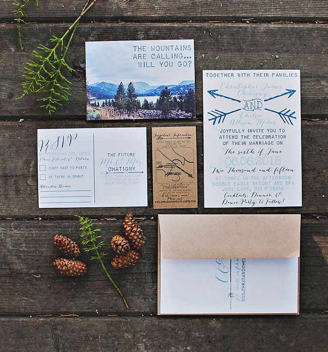 the 25+ best mountain wedding invitations ideas on pinterest,