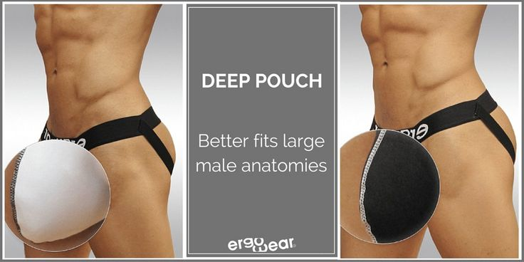 Deep pouch, that better fits large male anatomies