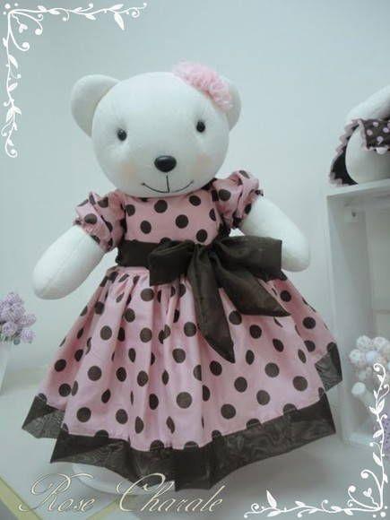 Ursas marrom e rosa | Rose Charale Bonecas de Pano | Elo7