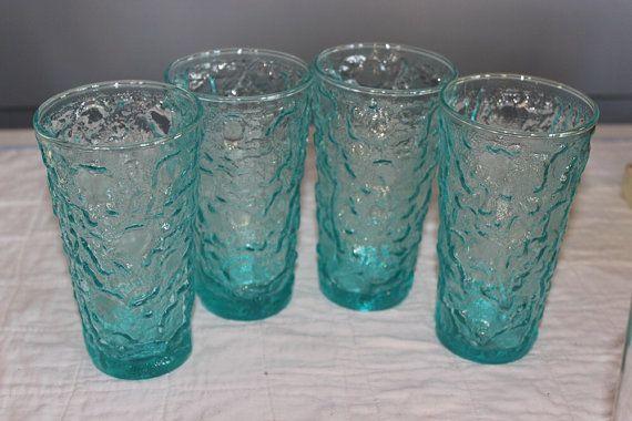 Aqua  Glasses Anchor Hocking Lido Milano of by AmeliesFarmhouse, $22.00