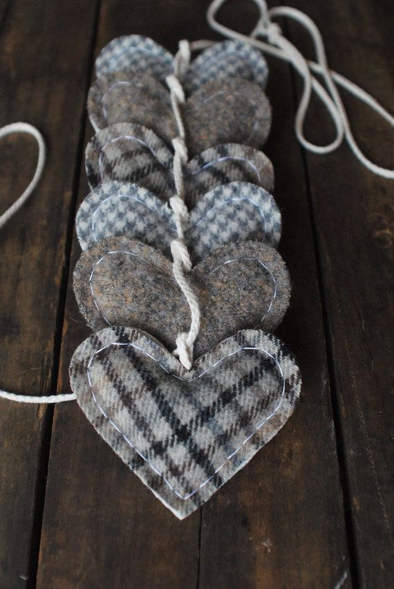 Fall Wedding Garland White Heart Love Bunting by whatnomints, $54.00