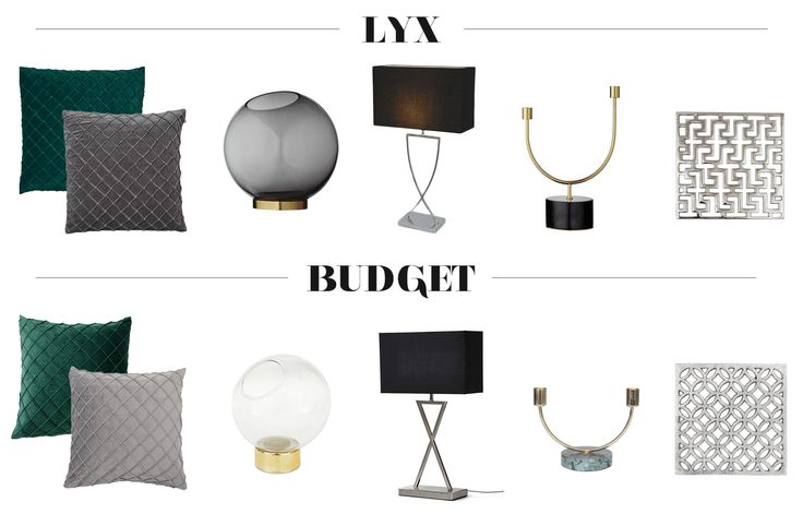 Inredning : Lyx vs. Budget / Luxury vs. Budget / Interior / Inredningstips / Interior Tips