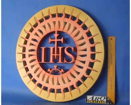 Hostia JHS Z Promieniami 56cm Nr 02 - Dekoracje Eucharystyczne - ARQ - DECOR | Pracowania Dekoracji ARQ DECOR