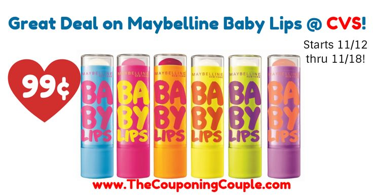 YAY! I love when this deal comes around, always great to have plus they make great stocking stuffers! Great Deal on Maybelline Baby Lips @ CVS (Starts 11/12)  Click the link below to get all of the details ► http://www.thecouponingcouple.com/great-deal-on-maybelline-baby-lips-cvs-starts-1112/ #Coupons #Couponing #CouponCommunity  Visit us at http://www.thecouponingcouple.com for more great posts!
