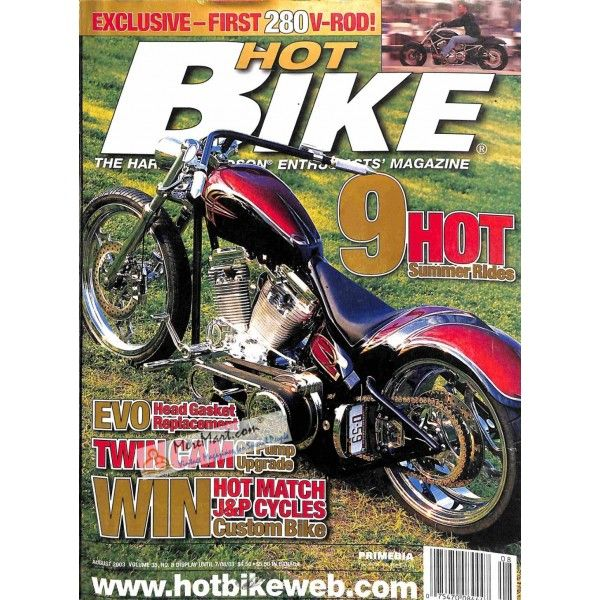 Cover Print Of Hot Bike August 2003 Hot Bikes Bike Magazine Cover
