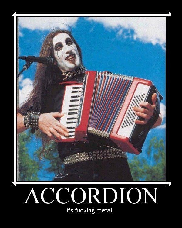 Black metal accordion