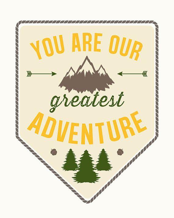 You Are Our Greatest Adventure Nursery Art por KiwiInTheClouds