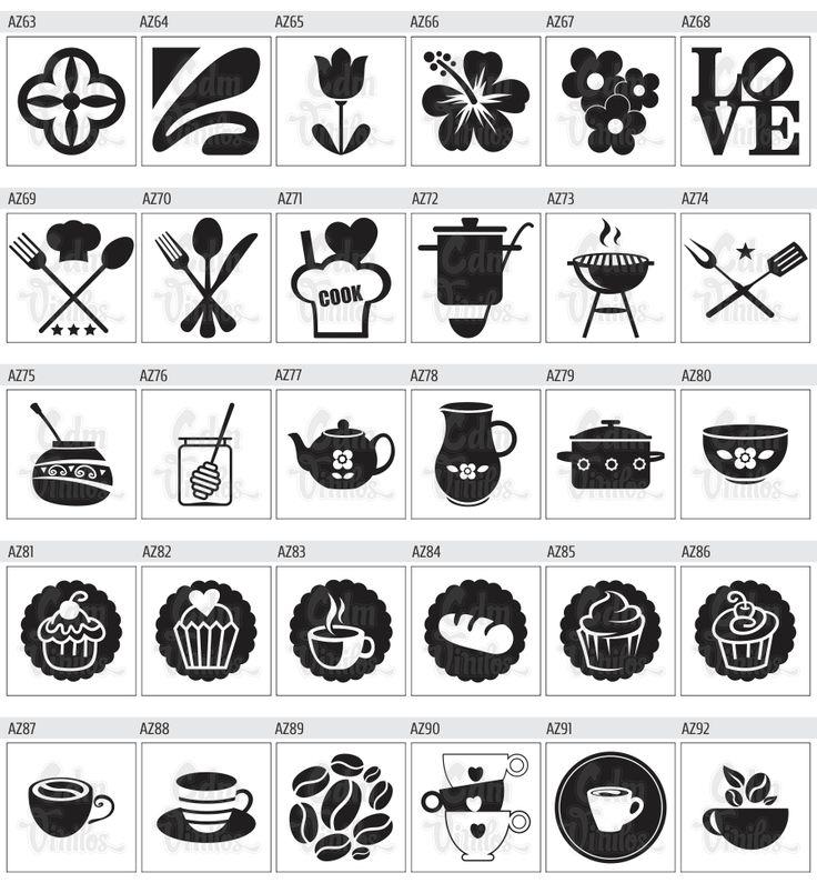 Pack de vinilos decorativos para azulejos de cocinas y for Azulejos decorativos