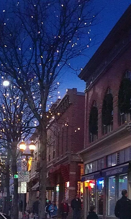 Old town lights Fort Collins Colorado