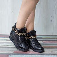 Sneakers dama Sansa negri confortabili • modlet