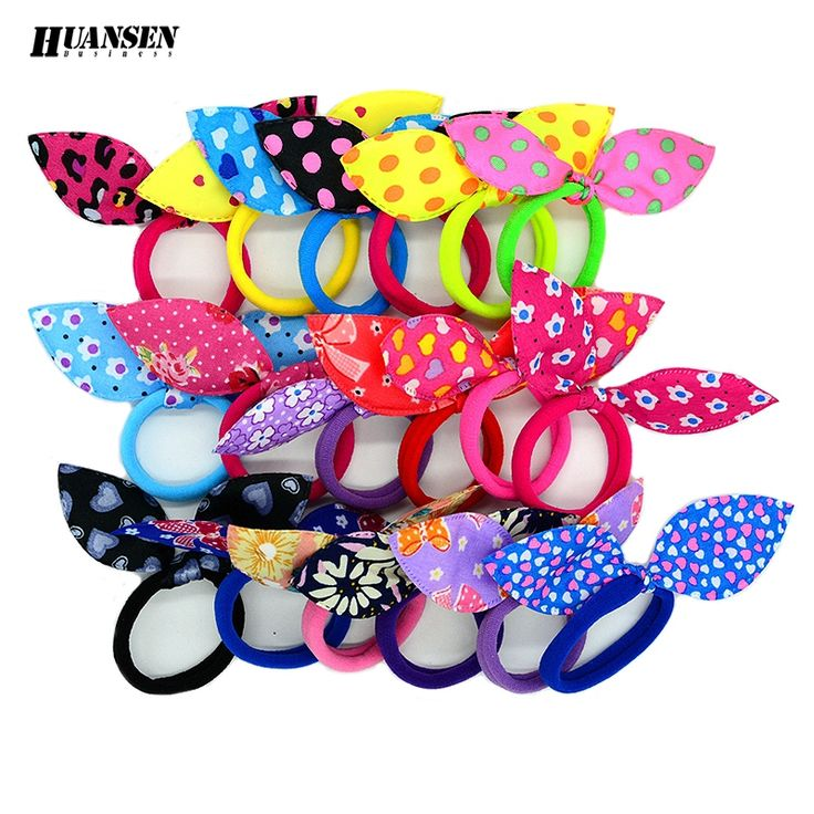 YWHUANSEN 20pcs/lot Rabbit ears gum for Hair Women Girls Accessories Scrunchy Elastic Hair Bands Headdress acessorios para