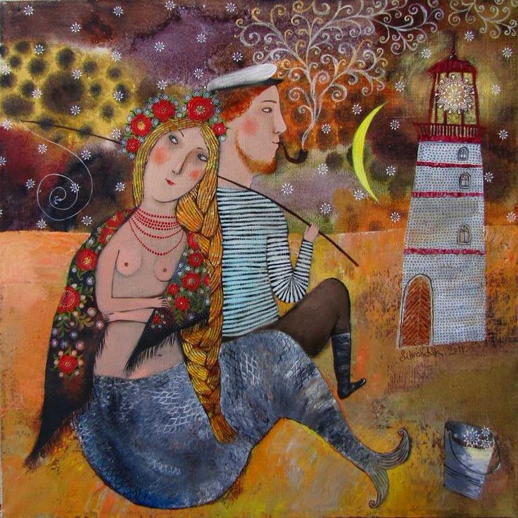 On a Beach by Anna Silivonchik