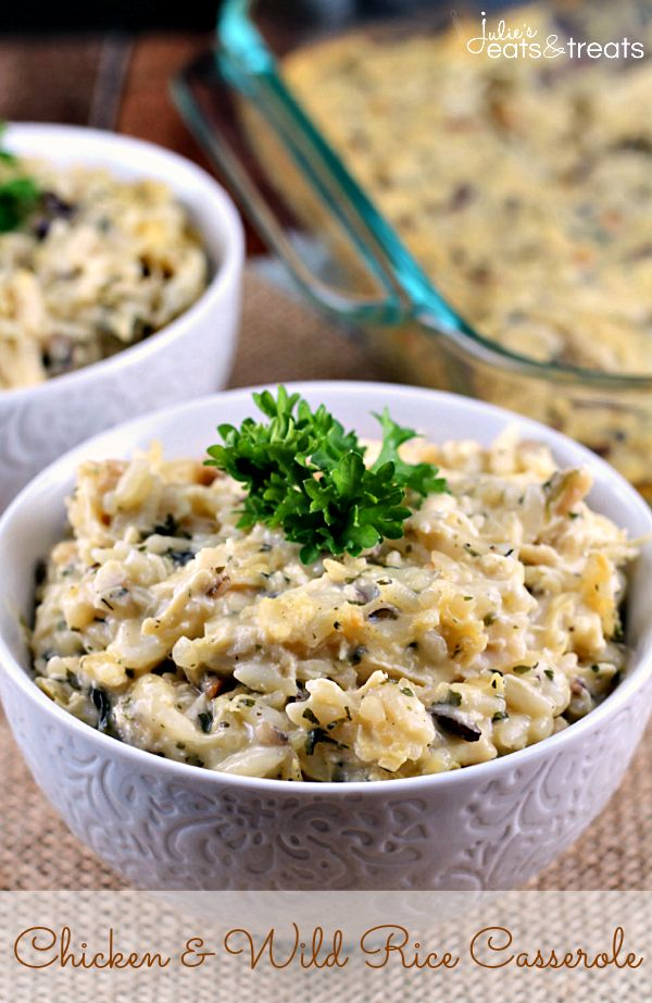 Chicken Wild Rice Casserole ~ Quick and Easy Weeknight Meal! Comfort food at it's best!