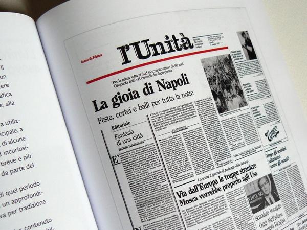 Piergiorgio Maoloni - Quotidiani - Newspaper design graduation thesis by Chiara Athor Brolli, via Behance