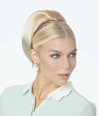 Revlon Volume Bump - Hair Topper/ Beehive Topper Creates lift and volume to crown, bun or ponytail. Attaches with wire comb at base and secures with drawstring for a bun or pony tail. Hair length approx 8-9""
