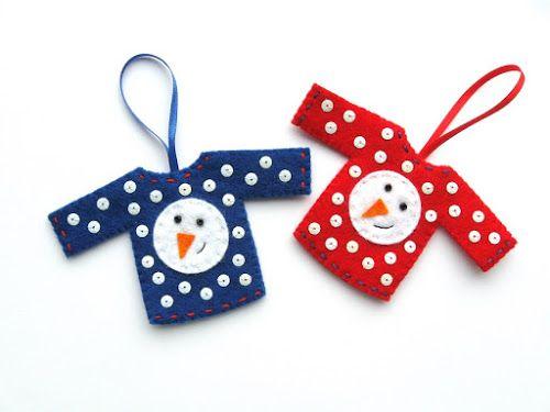 How To: Felt Christmas Jumper Ornaments