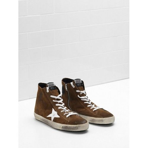 Cheap lebanon 2017 Golden Goose Deluxe Brand Trainers Mens FRANCY High Tops  Brown G31MS591.A56