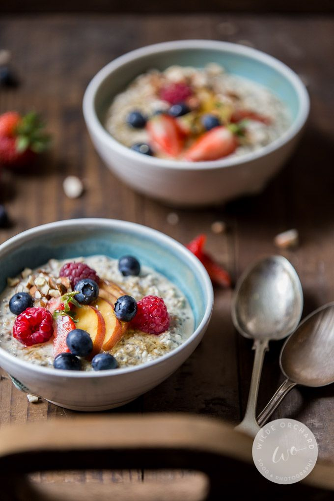 Summer Berry Overnight Oats. | Make breakfast like a boss and take back your mornings. Find out how| www.wildeorchard.co.uk
