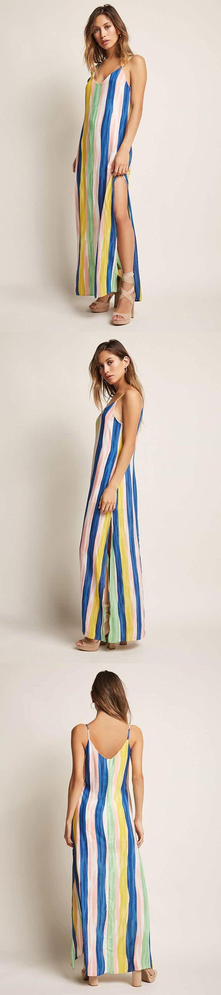 Striped Cami Maxi Dress // 35.00 USD // Forever 21