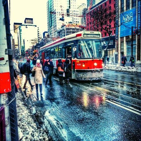 #Toronto #KingStreetWest #winter #streetlevel #urban #streetcar taken by jbleakley2 on instagram