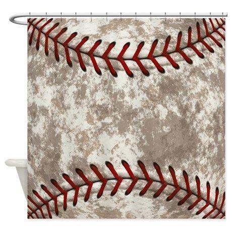 Baseball texture Shower Curtain on CafePress.com