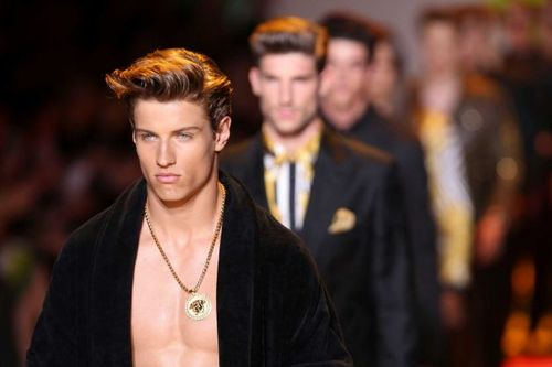 Mens Hair Runway Look #Versace Mens Hair Short Style