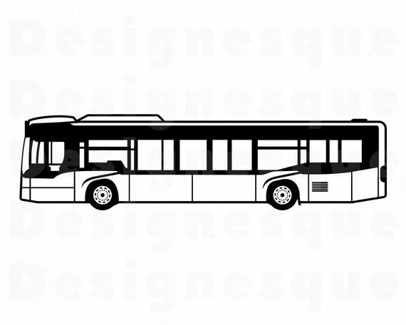 20+ Bus Clipart Black And White Png