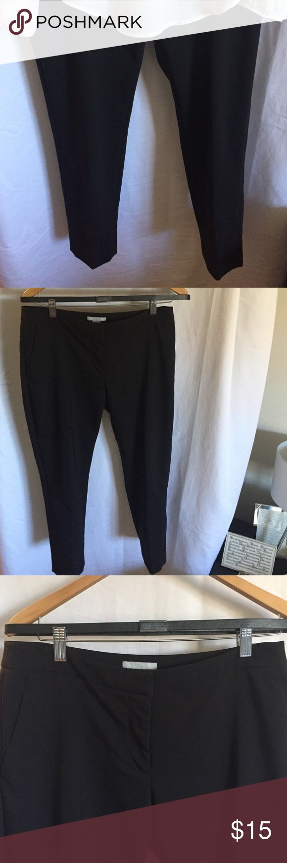 H&M black skinny ankle pants with belt Great and very comfortable black pants H&M Pants Ankle & Cropped