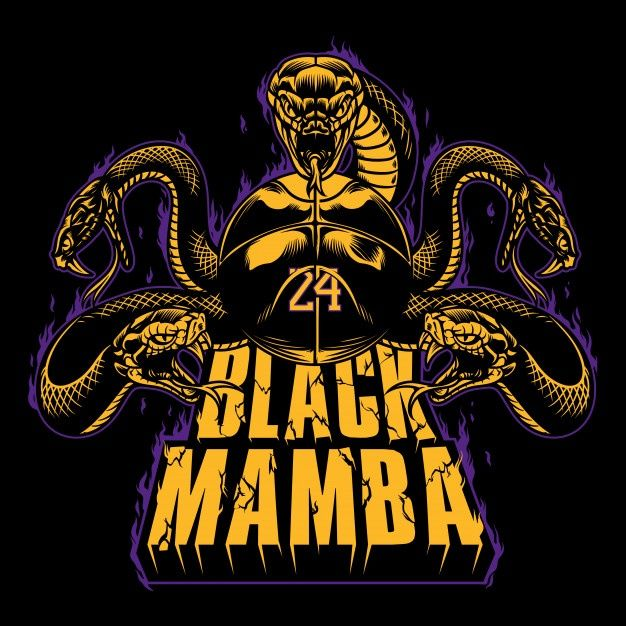 Black Mamba 24 Black Mamba Black Mamba Snake Nba Artwork