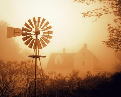 """WEST Finalist: """"Windmill in Fog"""" by Jason Andrews, Washington >> http://www.greatamericancountry.com/places/local-life/hunt-for-americana-finalists-and-winners-pictures?soc=pinterest"""