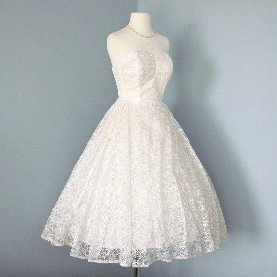 17 best 1950s Tea Length Wedding Dresses images on Pinterest | Short ...