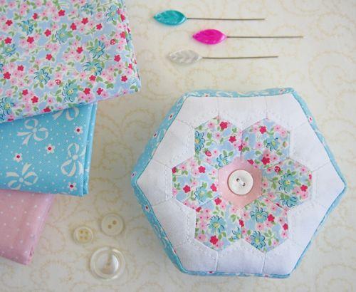 A hexagon pincushion! - Pretty By Hand